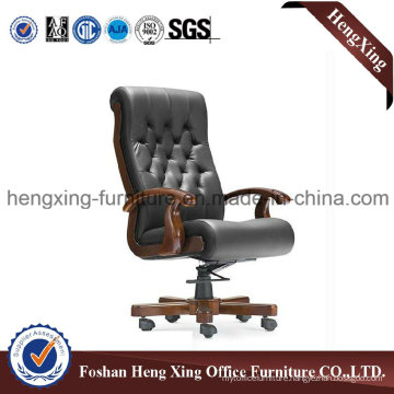 Wooden High Back Leather Executive Boss Office Chair (HX-CR026)