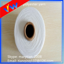 Bleached white polyester fabric sewing thread 40s/2