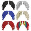Lantejoulas tecido bordado Patches de penas acessórios asas