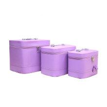 Purple Cosmetic Bag étanche PU en gros