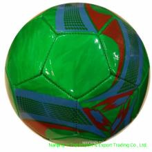 Green Color PVC /PU / TPU Machine Stitched Soccer
