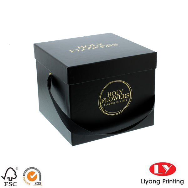 paper box packaging black