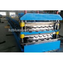 PLC Control Hydraulic Glazed Iron GI PPGI Double Channel IBR Sheet Roll Forming Machine