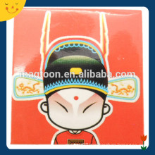 Popular design souvenir Peking Opera printing iron fridge magnet