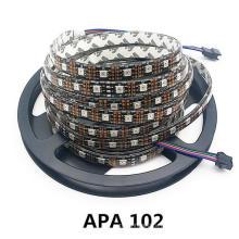 Степень защиты IP20 постоянного тока 5В адресно 5M APA102 Смарт-светодиодные ленты