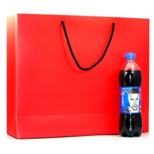 Garment Red Brown Paper Bag, Portable Gift Carrier Bags