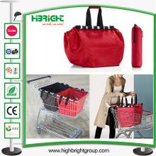 Supermercado supermercado reutilizável saco de carrinho de compras