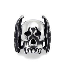 Панк Байкер череп из нержавеющей стали ювелирные изделия кольца мужские