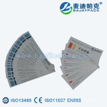 Tira de indicador de esterilización de vapor certificada CE para CSSD