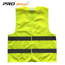 100% polyester knitted fabric reflective work safety vest