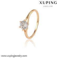 13934 Xuping design simples banhado a ouro alianças de dedo