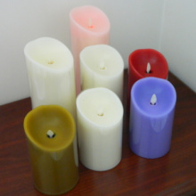 cera reale luminara batteria candele senza fiamma