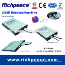 Floppy drive to USB flash drive for computer with regular sized