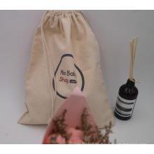 bolsas de embalaje de algodón con cordón de lona