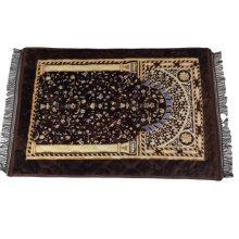 Delicate Muslim Prayer Rug Foldable Pocket Prayer Rug Mosque Praying Mat 80*120cm with Compass Travel Prayer Rug Muslim
