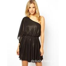 China Supplier One Shoulder Fashion Ladies Casual Dress (JK11126)