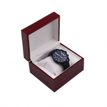 Customize watch box packaging promotional gift natural wooden watch Inner Leather box