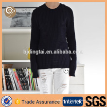 Cable design women fashion OEM cashmere knit sweater