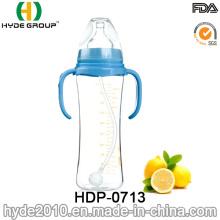 Biberon en plastique sans silicone de BPA de silicone de BPA nourrissant la bouteille (HDP-0713)
