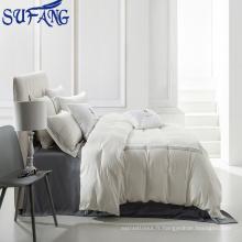 Nantong en gros 5 étoiles fournitures de linge de lit / broderie hôtel literie / hôtel drap de lit 400TC 100% coton