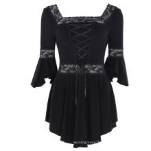 Belle Poque Women's Victorian Gothic Magical Renaissance Irregular Hem Cotton Tops BP000224-1