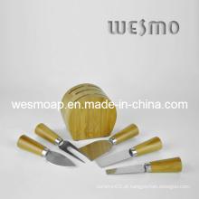Conjunto de facas de queijo de cozinha de bambu