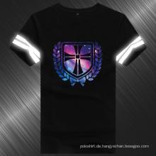 Baumwoll-reflektierendes T-Shirt der Sommer-Männer Karton-Entwurfs-100%
