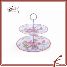 Good quality OEM price ceramics porcelain cake stand