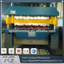 Proveedor de precio de fábrica doble capa de techo formando máquina de rollo de doble capa de la formación de rollo de la máquina