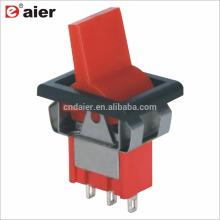 6A 125V 3Pin (ON) -OFF- (ON) Interrupteur à bascule à 3 positions Momentané SPDT