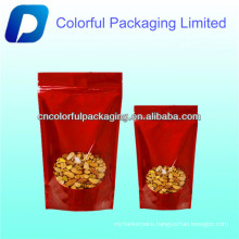Standing Up Gold Aluminum Foil Bag For Food