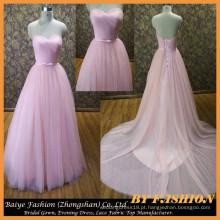 Vestidos de noiva de vestido de bola 2017 Vestidos de noiva brancos e cor-de-rosa do coração BYB-14611