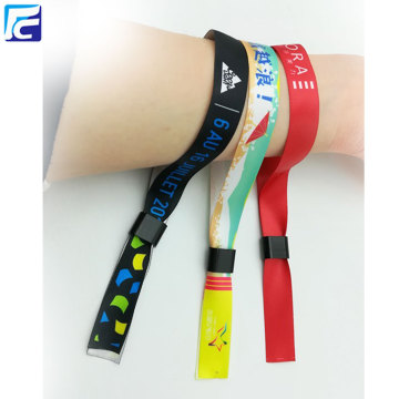 Customized fabric festival colored wristband lock