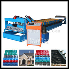 Kecepatan Tinggi Galvanized Roofing Sheet Roll Forming Machine