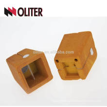 OLITER square thermal analysis sampling cup and silicon analyzer carbon cup with precoated sand