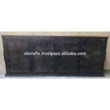 Reboque de madeira de mango de madeira retros retro metálico industrial