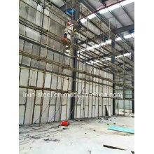 Taller de almacén de estructura de acero con panel de pared de tablero de cemento de fibra