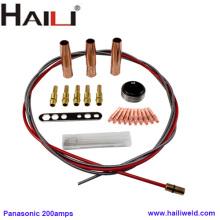 Acessórios da tocha de soldagem HAILI para Panasonic 200A