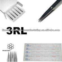 Alta qualidade de aço cirúrgico 316L made forro tatuagem 3R agulhas para profissionais apenas