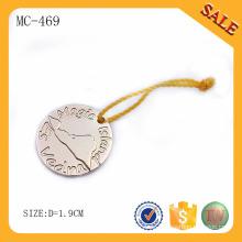 MC469 Großhandel Markenname benutzerdefinierte kleine Metall-Logo