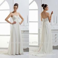 Simple Sweetheart Applique Beads Sheath Corset Closure Court Train Pequeno vestido de noiva de casamento artesanal Vestido de noiva