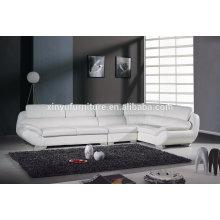 Estilo europeo sofá de cuero blanco salón KW346