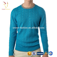 Crop Top Models of Men's Cable Cashmere Sweaters