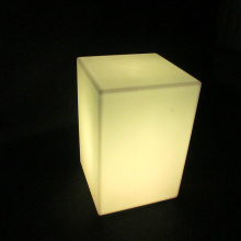 Led Light Up Outdoor Furniture Cadeira de cubo conduzida