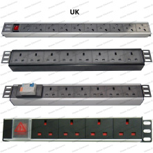 19 Inch UK Type Universal Socket Network Cabinet and Rack PDU