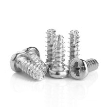 Zinc Plated Carbon Steel M2 M2.3 M2.6 M3 M4 PT Thread Forming Round Head Phillips Cut Tail Self Tapping Screws for Plastic