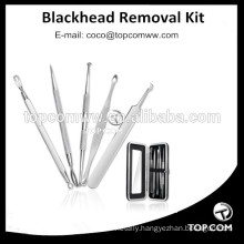 Premium Blackhead Acne 5 Piece comedone extractor set