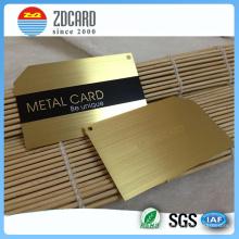 Cartão pessoal personalizado do metal