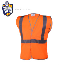 Wholesale EN ISO 20471 safety road workplace traffic man's reflective vest with pockets