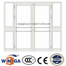 4 Leaf Opening Security Steel Glass Door (W-GD-32)
